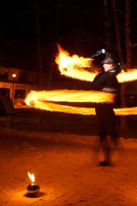 Winterval Fire Twirlers At LePage Park in Whitehorse, Yukon. Photos by Rick Massie / Yukon Sports Photographer